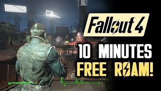 Fallout 4 10 Minutes of Free Roam Gameplay NO SPOILERS: Diamond City and Combat Gameplay