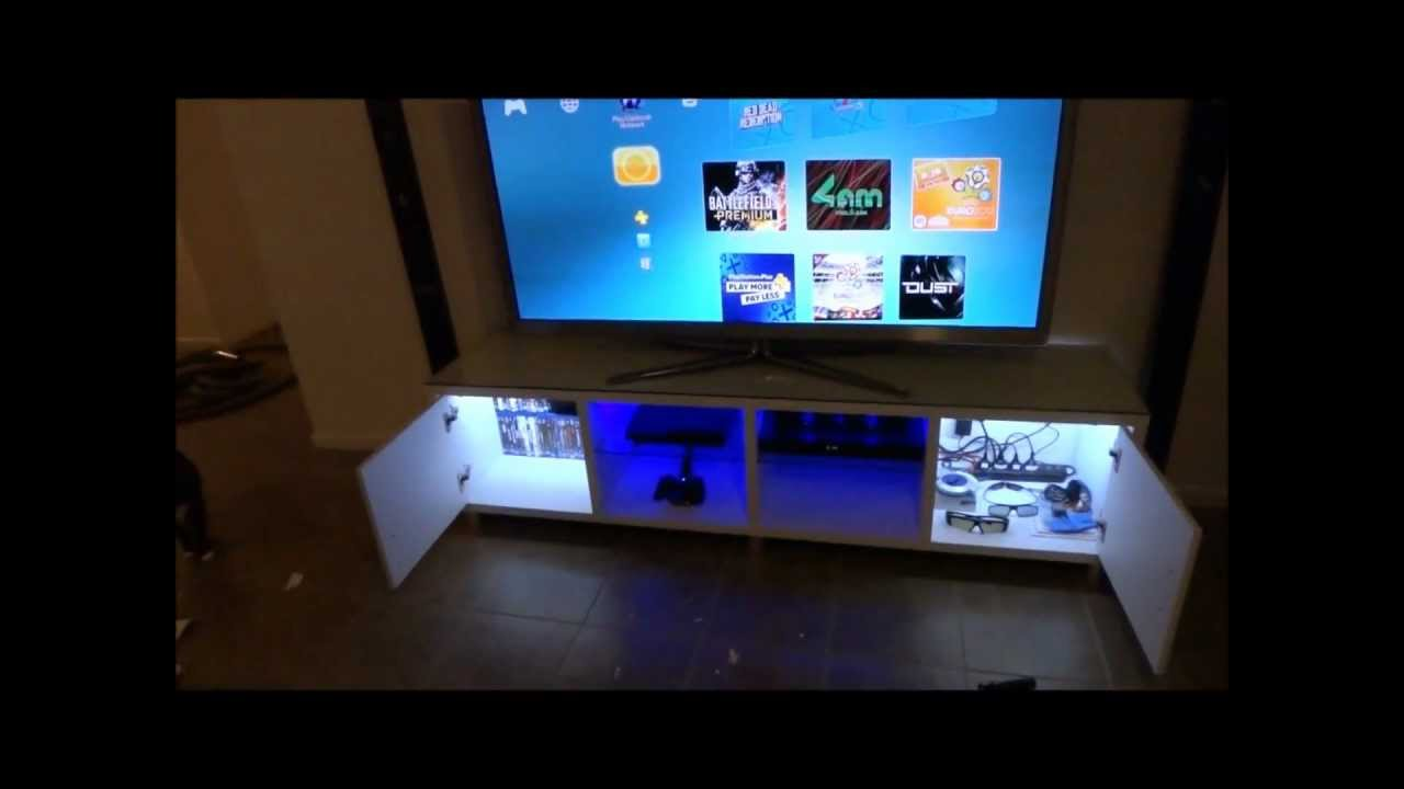Low Board Tv Cabinet Custom Led Lighting - Youtube