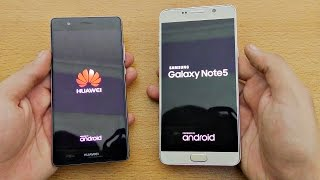Huawei P9 vs Samsung Galaxy Note 5 - Speed Test! (4K)