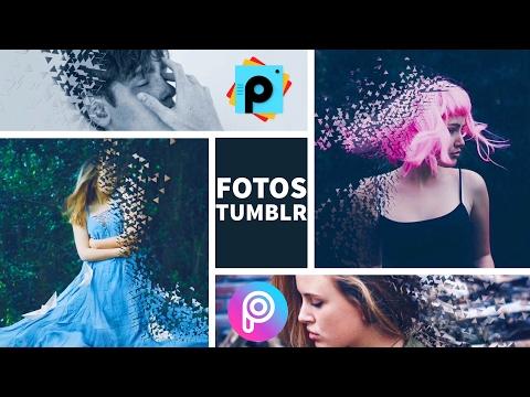 Como Hacer FOTOS Estilo TUMBLR Efecto desintegración PicsArt Tutorial