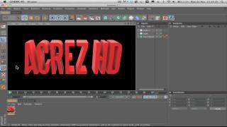 Cinema 4D Tutorial: How to Export 3D Text to Photoshop (Alpha Channel) - AcrezHD