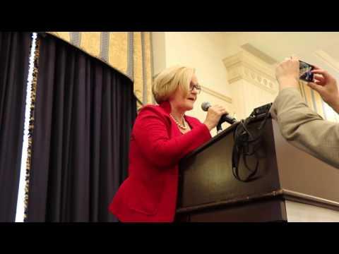 Senator Claire McCaskill honors the life of Dutch Newman