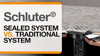 Shower Systems: Schluter® Sealed System vs. Traditional System