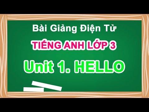 Bài giảng điện tử | Bài giảng tiếng anh lớp 3 Unit 1: Hello