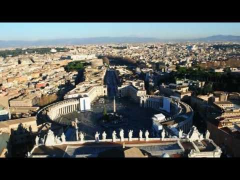 Vatican City Panorama View, from St. Peter's Dome