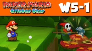 Paper Mario Sticker Star - W5-1 - Shy Guy Jungle (Nintendo 3DS Gameplay Walkthrough)