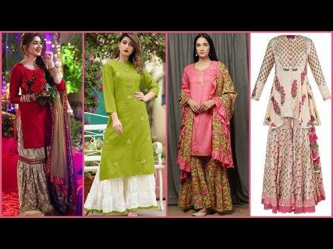 Latest Stylish Simple Sharara/Gharara Designs \u0026 Colour