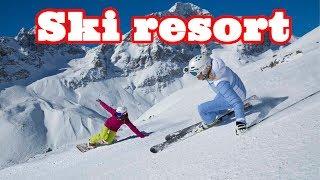 Швейцария Горнолыжный курорт Switzerland Ski resort