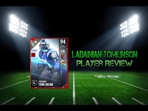 Madden NFL 17 Ultimate Team 94 Overall Ladainian Tomlinson Player Review