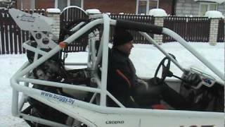 Багги 1000cc (Yamaha)Bertel ZM1000FZR по снегу на Рождество на Крайней в Гродно 07.01.2009 www.buggy.by