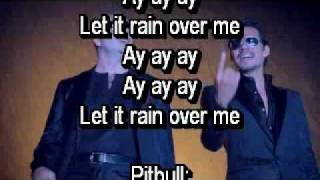 Pitbull ft. Marc Anthony- Rain over me official lyrics on screen and description