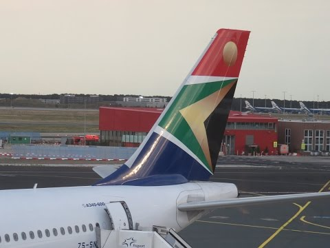 South African Airways ( SAA ) Airbus 340-600 seats 2H & 2K Business Class Frankfurt to Johannesburg