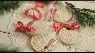 Ozdoby z masy solnej wykonane przy użyciu wełnianej czapki [Lawendowy Dom]