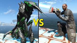 Fallout 4 - 23 FOG CRAWLERS vs 100 COURSERS - Battles #39