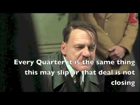 FUNNY SALES  - HITLER Does A PIPELINE REVIEW -- Funny HITLER Sales MANAGEMENT Video