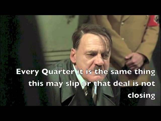 FUNNY SALES Video: HITLER Does A Pipeline Review -- Funny Sales Video