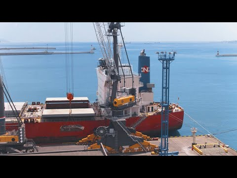 Liebherr  LPS 420 E: Purely electrical portal crane