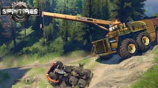 SPIN TIRES 2014 mod car Caterpillar Crane