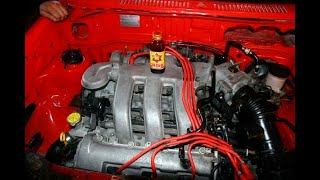 KIADOHC Works...MAZDA K-series V6 from the Lantis Type-R installed in a Kia Pride
