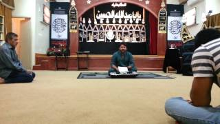 Ali Yazdan Rizvi Reciting a Salam In Chicago -