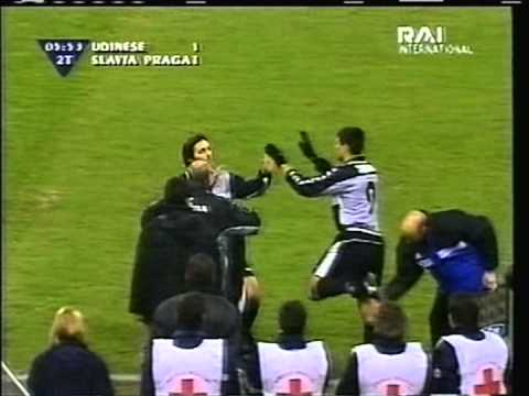 2000 (March 7) Udinese (Italy) 2-Slavia Prague (Czech Rep.) 1 (UEFA Cup)