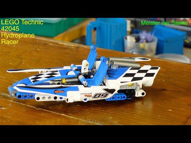 Lego Technic, 42045, Renngleitboot, Hydroplane Recer, Meister der Steine