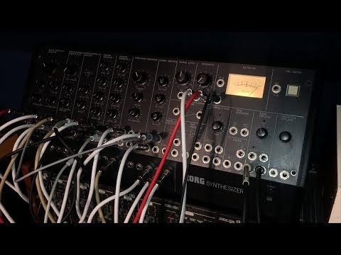 Synth Party - Korg MS-50 modular synth sequenced by Yamaha CS-30