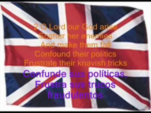 Himno Británico Subtitulado En Inglés Y Español Youtube