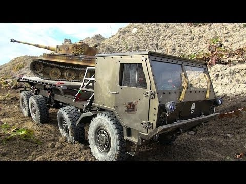 RC ADVENTURES - Tatra 8x8 Military Machine & Tiger TANK attack a Trail Truck