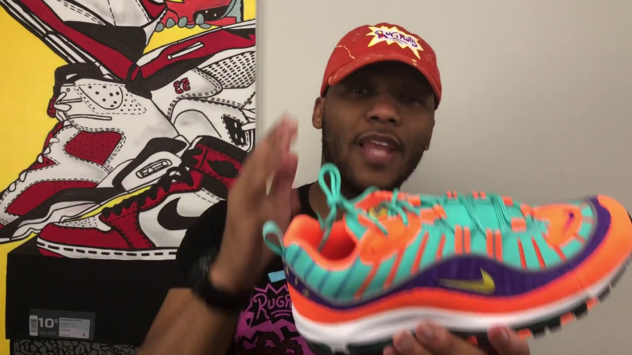 the best attitude ab1be 17ece UNBOXING the NIKE Air Max 98 Cone aka NICKELODEON!!!!