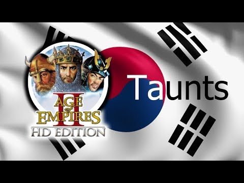 Age of Empires 2 - All Taunts (In Korean)