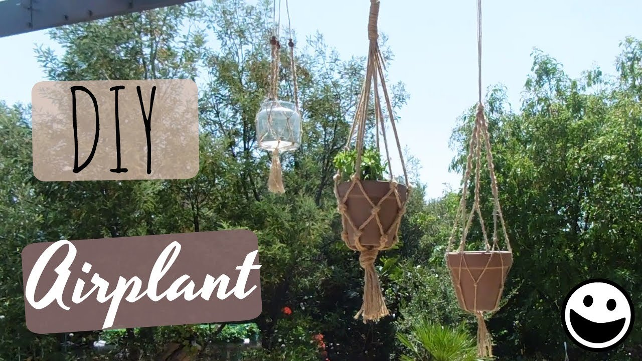 Diy Pot Suspendu Macrame Youtube