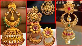 top beautiful and classy gold jhumka design gold jhumka earrings designs 2020
