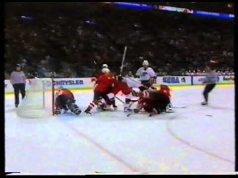 Hockey rough stuff - 1996 World Cup of Hockey pt.3/3