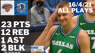 Kristaps Porzingis vs. Knicks: 23 pts, 12 reb, 1 ast, 2 blk ALL PLAYS 2020/21 Reg Season [16.04.21.]