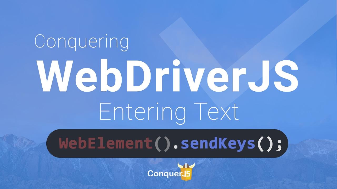 03 - SendKeys and Click in WebdriverJS