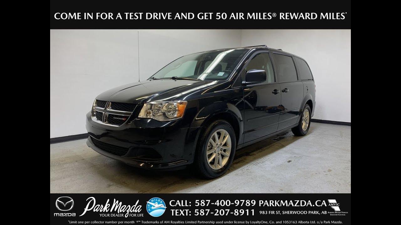 Black 2016 Dodge Grand Caravan Sxt Plus Review Park Mazda Youtube