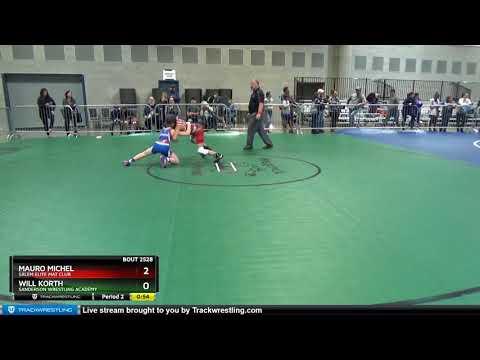 Middle School 87 Will Korth Sanderson Wrestling Academy Vs Mauro Michel Salem Elite Mat Club
