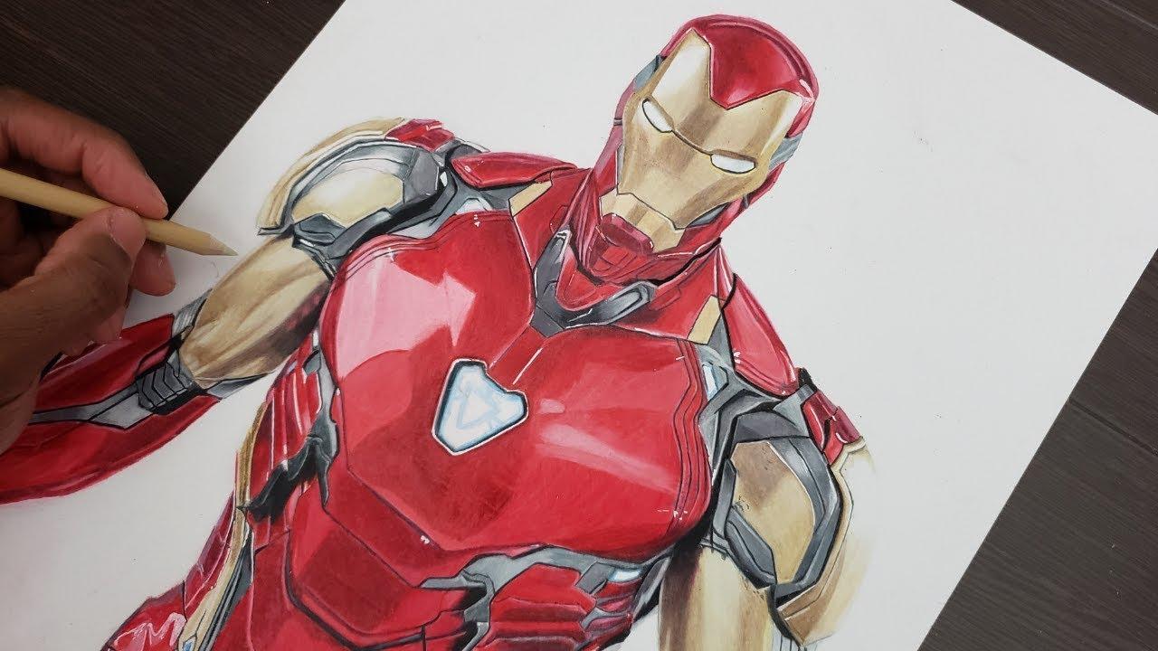 Iron Man Drawing Avengers Endgame Youtube