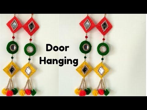 DIY Door hanging From Cardboard and woolen /Best out of waste /Best craft Ideas /DIY cool craft.