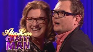Sarah Millican And Alan Try On Funderwear - Alan Carr: Chatty Man