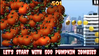 Cheat Zombie Tsunami: Let's Start With 500 Halloween Pumpkin Zombies