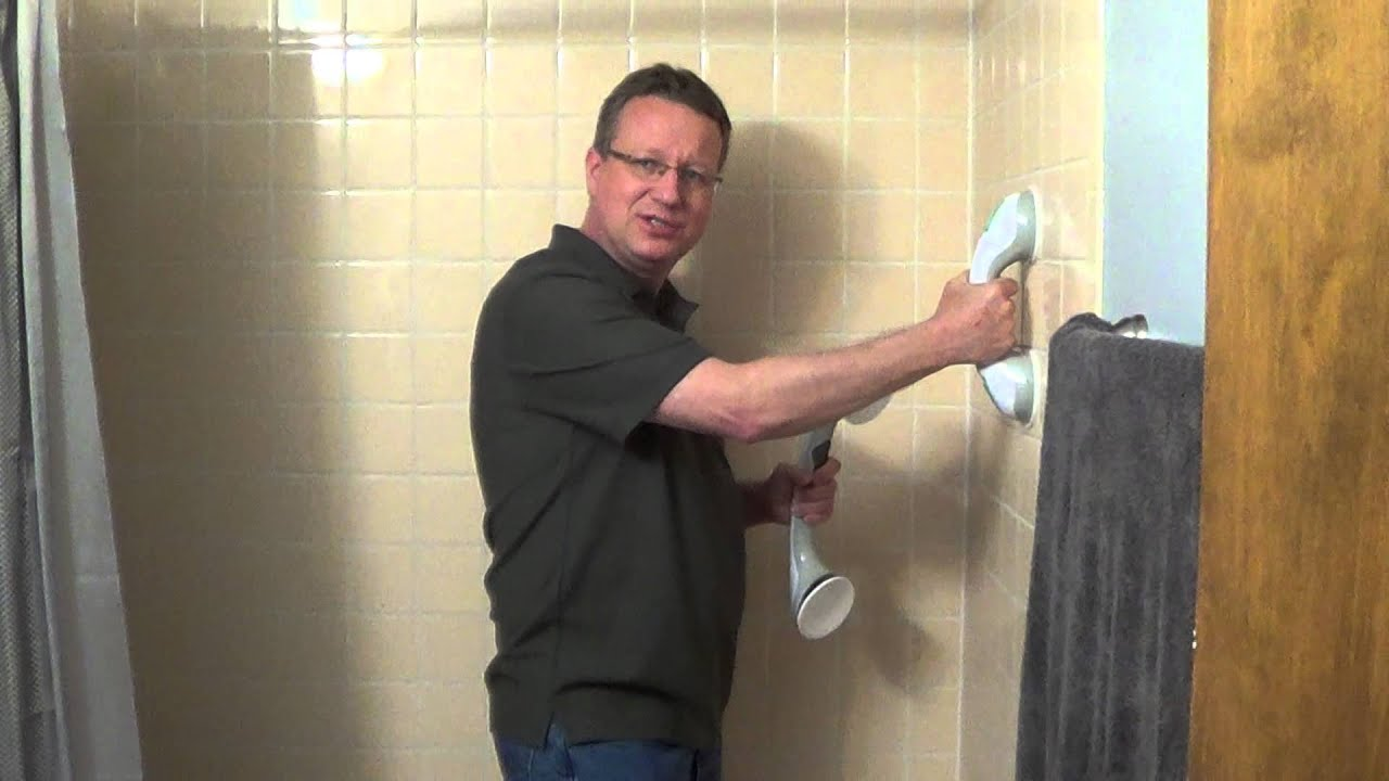 Suction Cup Grab Bars - Shower Grab Bars - Grab Bars - YouTube