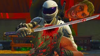 Fortnite Ninja Chops off Noob Heads - Fortnite Battle Royale OVERTAKER SKIN