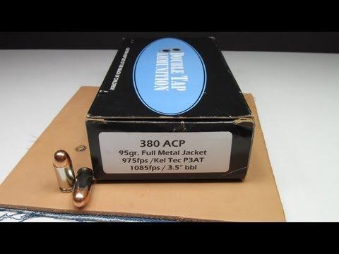 Pocket Guns and Gear: 380 Auto FMJ Heavy Clothing Terminal Testing
