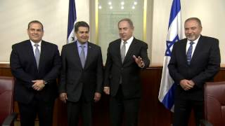 Repeat youtube video PM Netanyahu Meets President of Honduras Juan Orlando Hernández