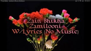 ᴴᴰ Zain Bhikha - Zamilooni || W/Lyrics (No Music)