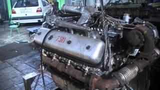 Заводим ЯМЗ-7511 после капитального ремонта (камера JVC)