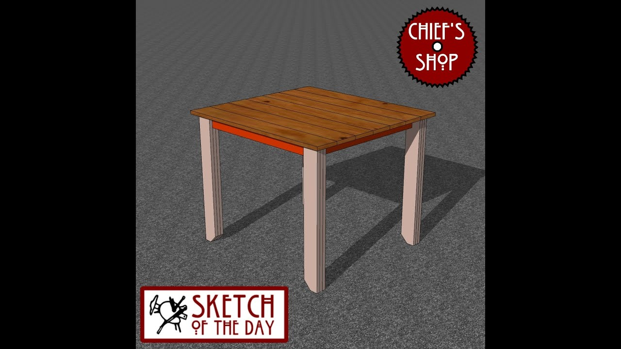 Chief's Shop Sketch of the Day: Simple Card Table