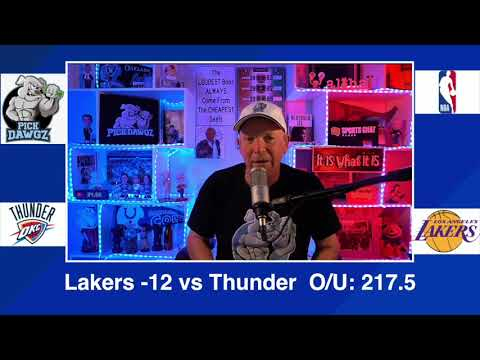 Los Angeles Lakers vs Oklahoma City Thunder 2/8/21 Free NBA Pick and Prediction NBA Betting Tips